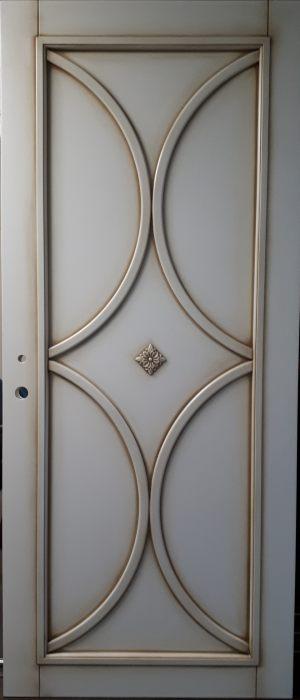 Межкомнатная дверь в профиле массив (эмаль с патиной) Электросталь
