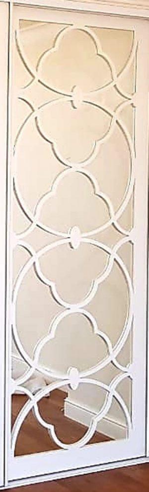 Вставка с фигурной филенкой на зеркале эмаль Электросталь